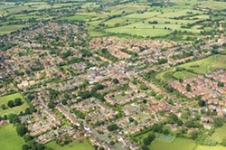 aerial view of Balsall Common