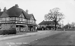 Black and white photo of Shops in Balsall Common