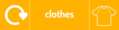Clothes recycling banner