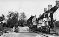 Black and white photo of Barston